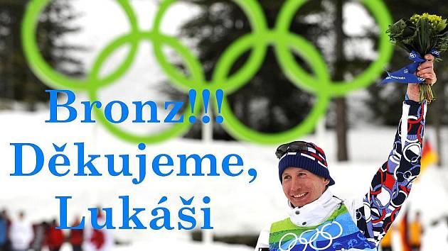 Na Zimních olympijských hrách v běhu na 15 kilometrů volně 15. února ve Whistleru Lukáš Bauer vybojoval třetí místo.