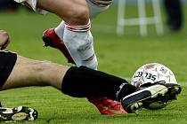 Fotbalové utkání. Ilustrační snímek.