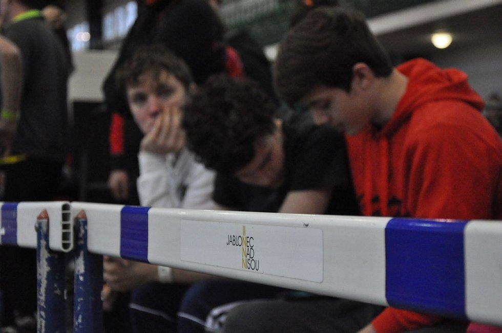 Hasičská soutěž v jablonecké hale