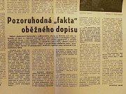Srpen 1968. Ukázka dobového tisku, letáků a dalších tiskovin
