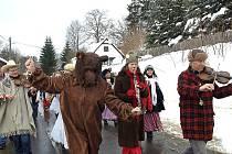 Jablonecký folklorní soubor Šafrán přijal pozvání na sobotní masopustní průvod v Pulečném.