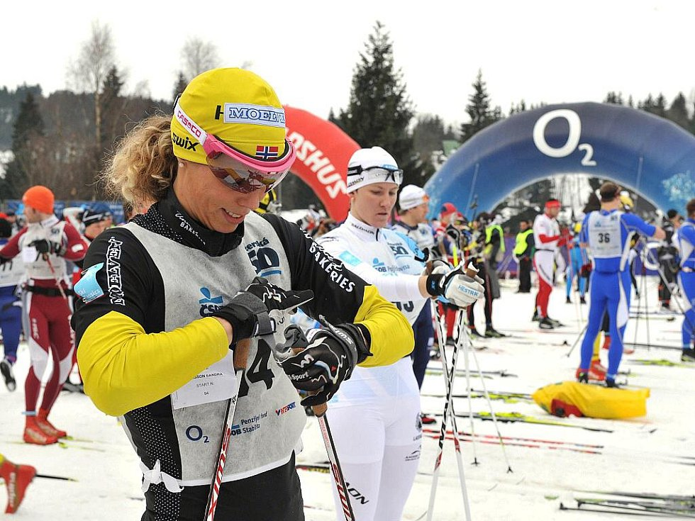 Jizerská padesátka 2011. Vítězná žena Švédka Sandra Hansson.