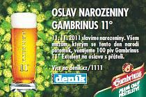 Soutěž Gambrinus 11. 11. 2011.