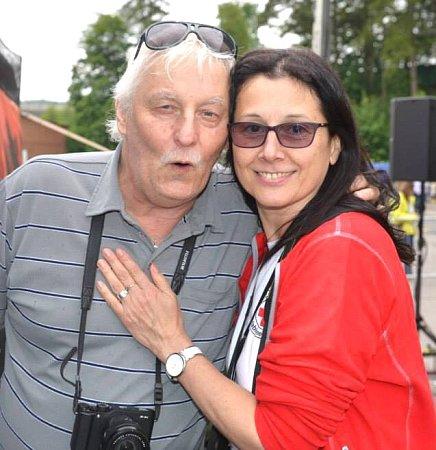 Jiří Langer a Lenka Klimentová na vratislavických Pivních slavnostech 2015