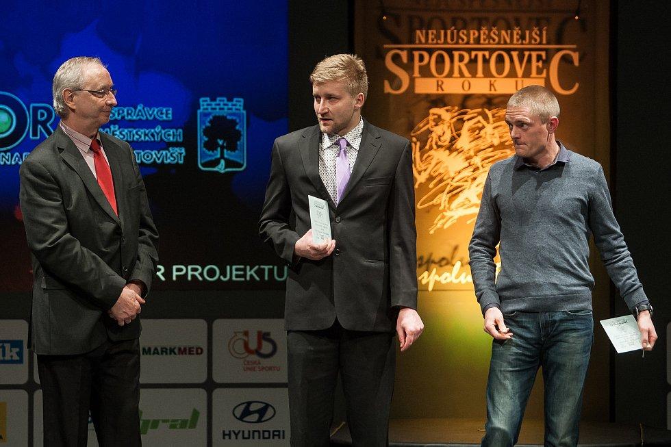 Slavnostní vyhlášení ankety Nejúspěšnější sportovec Jablonecka za rok 2017 proběhlo 29. ledna v Městském divadle v Jablonci nad Nisou. Na snímku zprava Ondřej Zelený a Stanislav Doubek.