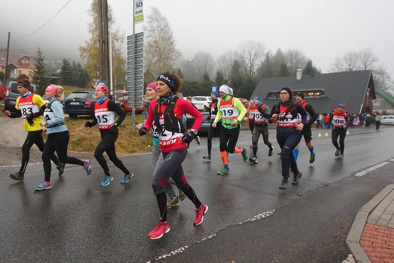 Běžecký závod Boboběh v Bedřichově.