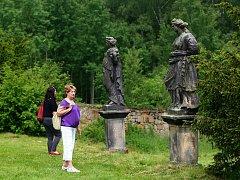 Bredovská zahrada u zámku Lemberk ve Lvové v Podještědí