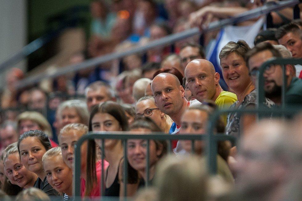 Kvalifikační utkání o postup na volejbalové mistrovství Evropy 2019 žen mezi reprezentačním výběrem České republiky a Estonska se odehrálo 22. srpna v Jablonci nad Nisou.