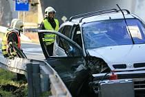 Nehoda na sjezdu z dálnice, takzvaný Rádelský mlýn