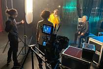 Natáčení nového videoklipu Davida Deyla v Jablonci nad Nisou.