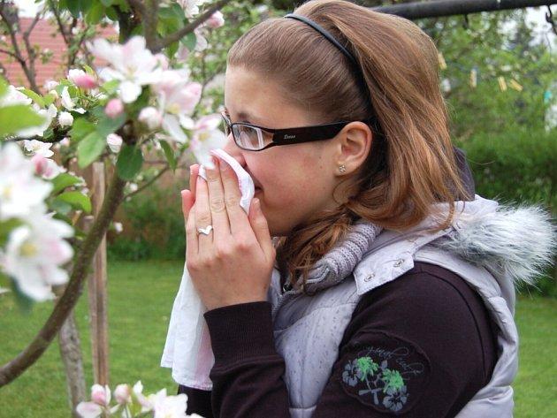 Jarní příroda a pyly květin a stromů trápí alergiky.