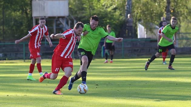 V zápase proti FK Přepeře, týmu, který hraje o dvě soutěže výš, byla znát lepší fyzička soupeře.