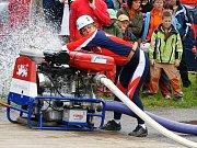 Sbor dobrovolných hasičů Frýdštejn - ženy. Soutěž Podkozákovská hasičská liga 2009.