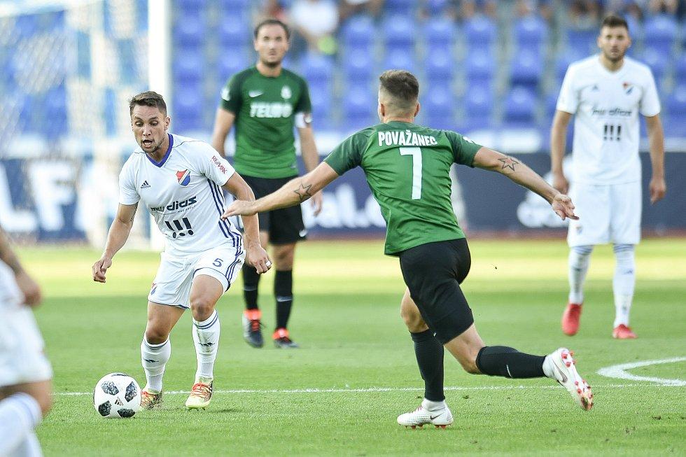Utkání 1. kola první fotbalové ligy: Baník Ostrava - FK Jablonec, 23. července 2018 v Ostravě. (vlevo) Jánoš Adam a Diviš Jaroslav.