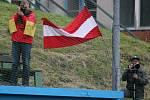 Ve středu pokračovalo ME kadetů v baseballu pěti zápasy. Na snímku utkání Německa s Rakouskem (v červeném), které skončilo debaklem Rakušanů 28:0.