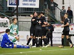 ROZHODNUTO! Jablonečtí fotbalisté se radují v 56. minutě z gólu Doležala, na Bohemians v 8. kole HET ligy vyhráli 1:0: