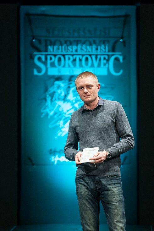 Slavnostní vyhlášení ankety Nejúspěšnější sportovec Jablonecka za rok 2017 proběhlo 29. ledna v Městském divadle v Jablonci nad Nisou. Na snímku je Ondřej Zelený.