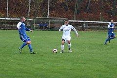 Krajský přebor. V.Hamry a - Hrádek n. N. 0:1 (0:1). Velké Hamry - bílé dresy.