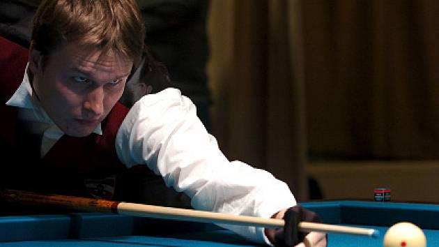 Grand Prix v trojbandu se v Jablonci zúčastnil i domácí hráč Jan Hudák z TJ Bižuterie Jablonec.