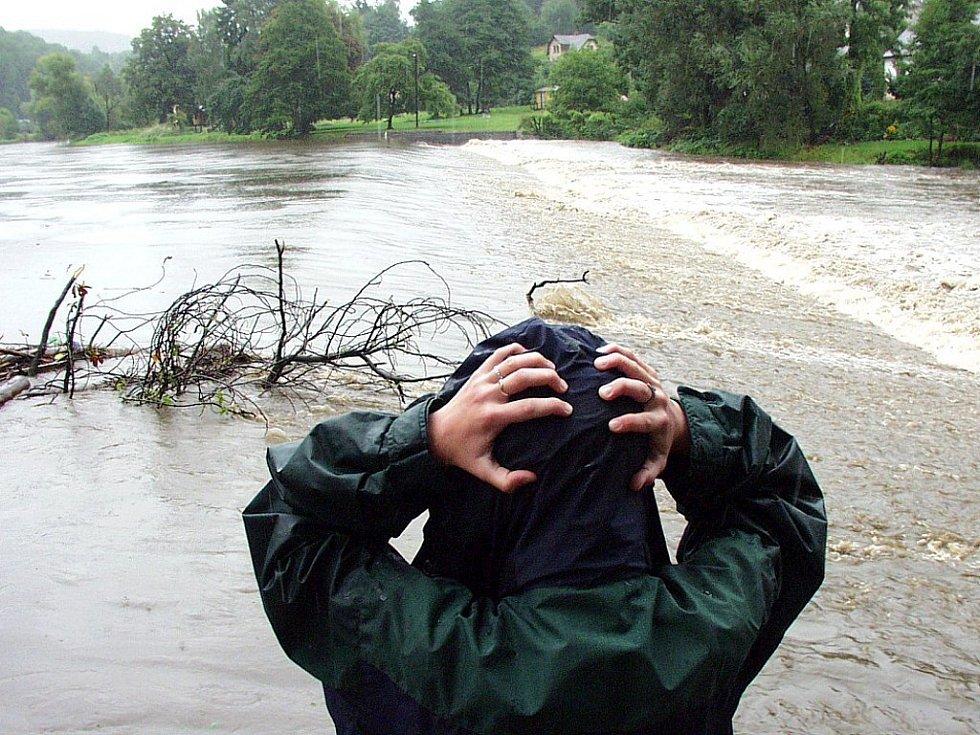 Povodně na jablonecku v roce 2002.