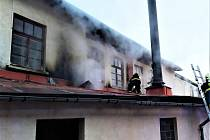 Požár kotelny průmyslového objektu v Pasekách nad Jizerou