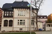 Radnice v Desné po rekonstrukci.