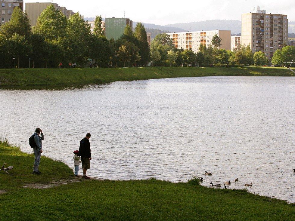 Jablonecká přehrada Mšeno.