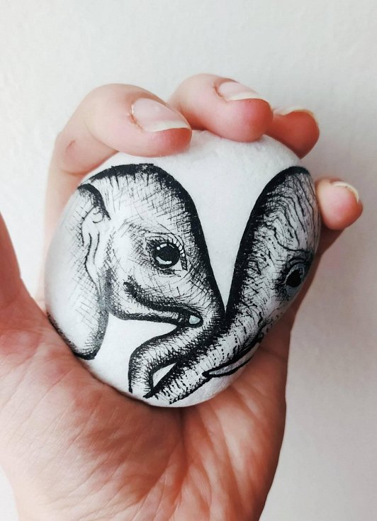 Slon od Lenky Špátové pro zoo Dvůr Králové do 16. dubna.
