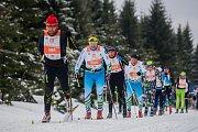 Jizerská 50, závod v klasickém lyžování na 50 kilometrů zařazený do seriálu dálkových běhů Ski Classics, proběhl 18. února 2018 již po jedenapadesáté. Na snímku je
