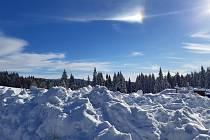 V bílé stopě kolem Jizerky.