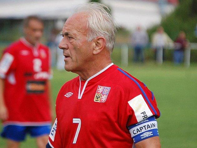 Internacionálové ČR. Na snímku kapitán František Veselý.