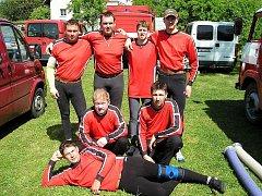 Sbor dobrovolných hasičů Jirkov. Členové jirkovských dobrovolných hasičů na závodech.