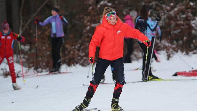 Na lyžařském kolečku v Břízkách bojovali mládežníci o účast na zimní olympiádě dětí a mládeže. Nebudou na ní chybět ani zástupci Ski klubu Jablonec.