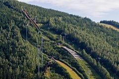 Mamutí můstek K-185 pro lety na lyžích v Harrachově.