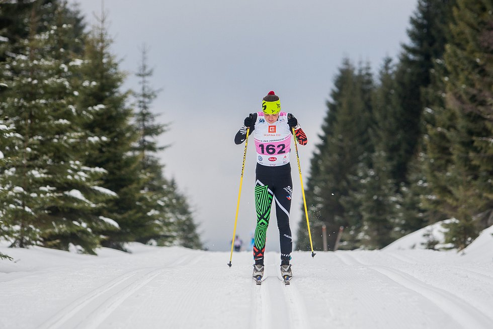 Jizerská 50, závod v klasickém lyžování na 50 kilometrů zařazený do seriálu dálkových běhů Ski Classics, proběhl 18. února 2018 již po jedenapadesáté. Na snímku je Zuzana Kocumová.