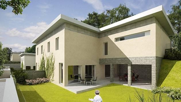 Vizualizace developerského projektu  rodinných domků v lokalitě Horní Proseč. Nejpozději do jara 2010 tu společnost Natur postaví nízkoenergetické domy, které budou vytápěny tepelnými čerpadly se systémem vzduch – voda.
