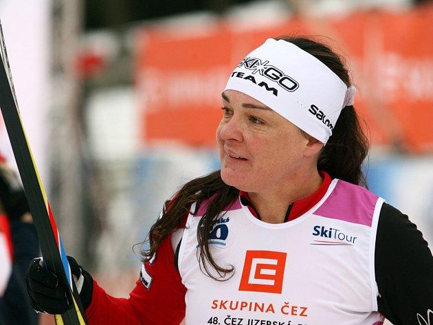 Zuzana Kocumová na trati Jizerské 50