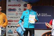 Mšenský přespolák, vítěz v kategorii mužů: Petr Knop, odchovanec Ski klubu Jablonec, teď člen reprezentačního družstva a TJ Dukla Liberec. 9 km za 37:35.6
