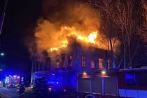 Požár domu v Pěnčíně.