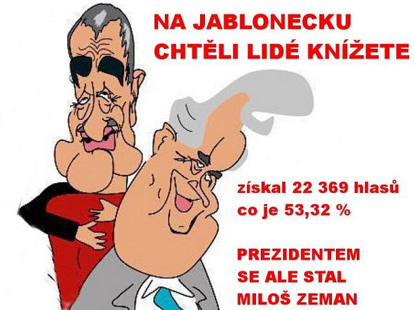 Výsledek prezidentských voleb na Jablonecku.