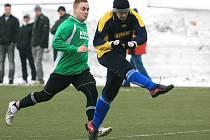 Momentka ze zimního turnaje O pohár předsedy OFS Jablonec 2012