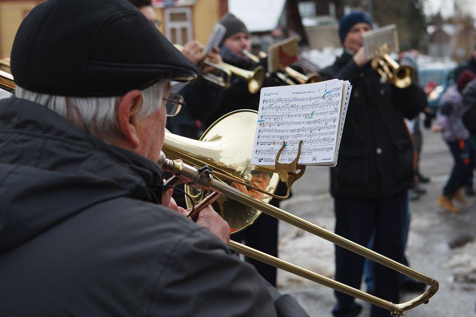 Tradiční příjezd Krakonoše do Harrachova.