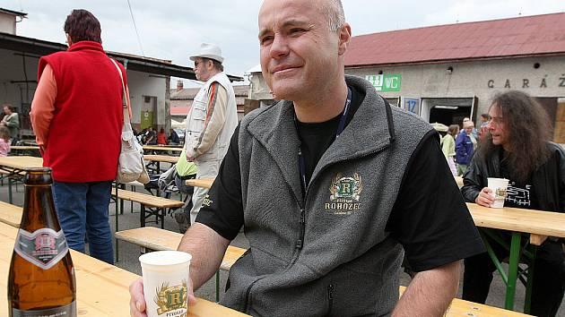 Slavnosti piva Skalák. Na snímku ředitel Pivovaru Rohozec František Jungmann.