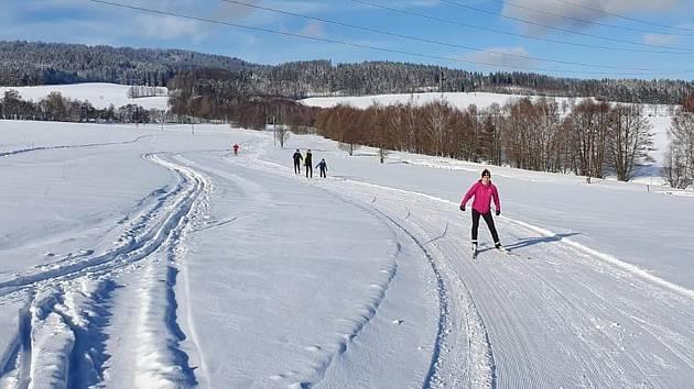 Lyžařské běžecké tratě v Zásadě a okolí.