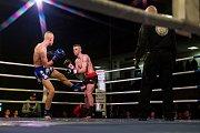 Galavečer bojových sportů, Iron Night Fight 3, proběhl 22. února v městské hale v Jablonci nad Nisou. Na snímku je Denys Klust (vlevo) a Zdeněk Pavel v kategorii K1 do 63,5 kilogramů.