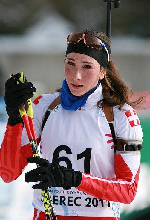 EYOWF 2011. Dvanáctká příčka – Aita Gasparinová – Švýcarsko. Biatlon - dívky individuálně 10 kilometrů se jel v úterý v jabloneckých Břízkách.