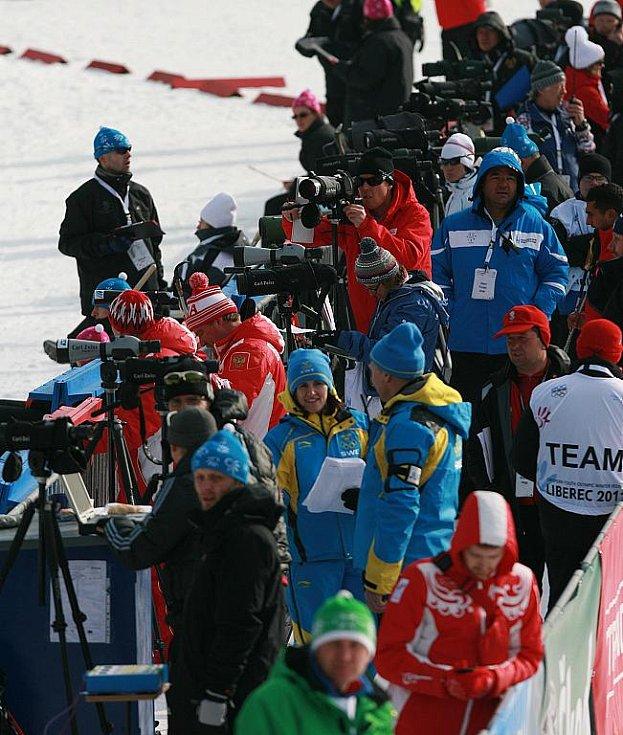 EYOWF 2011. Biatlon - dívky individuálně 10 kilometrů se jel v úterý v jabloneckých Břízkách.