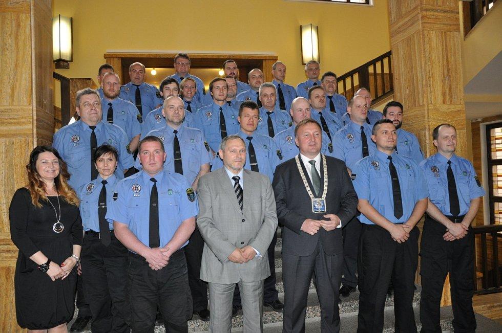Z udílení ocenění Strážník roku 2015