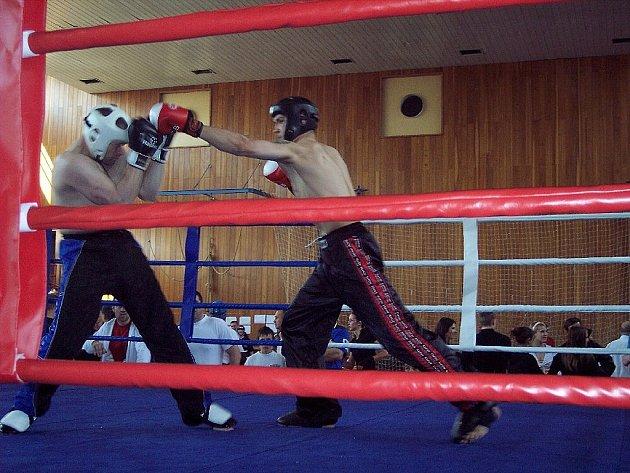 Kickboxeři v akci.