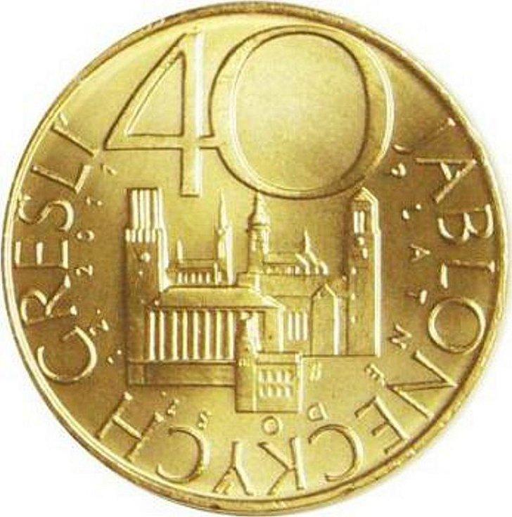 40 Jabloneckých grešlí, emise 5000 ks, platnost od 16. 12. 2010 do 31. 12. 2011. Parametry:  kov – Nordic Gold, průměr – 30 mm, váha – 13,9 gramu. Autorka: Petra Kobrlová. Směnná hodnota 40 korun.